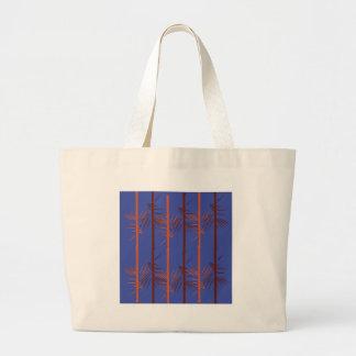 Bolsa Tote Grande Azul de bambu do design