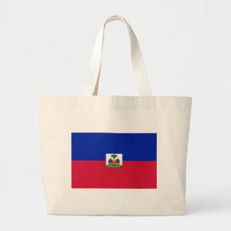 Bolsa Tote Grande Baixo custo! Bandeira de Haiti