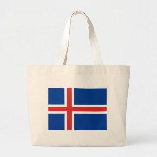 Bolsa Tote Grande Baixo custo! Bandeira de Islândia