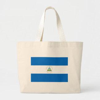 Bolsa Tote Grande Baixo custo! Bandeira de Nicarágua