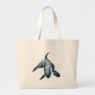 Bolsa Tote Grande Baleia solitária da orca