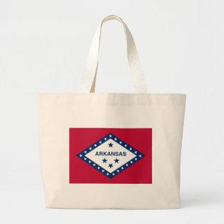 Bolsa Tote Grande Bandeira de Arkansas
