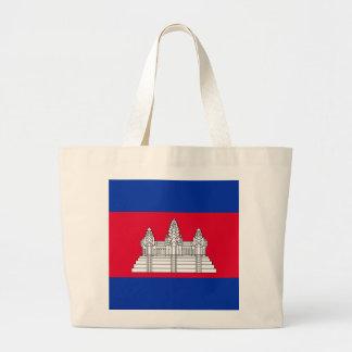 Bolsa Tote Grande Bandeira de Cambodia