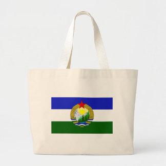 Bolsa Tote Grande Bandeira de Cascadia socialista