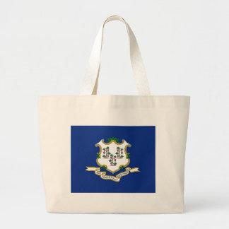 Bolsa Tote Grande Bandeira de Connecticut