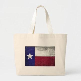 Bolsa Tote Grande Bandeira de Grunged de texas