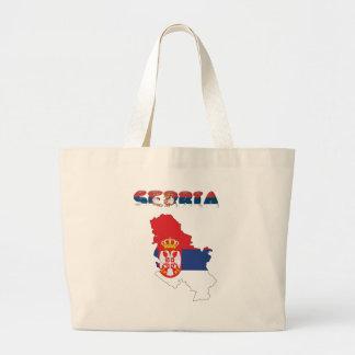 Bolsa Tote Grande Bandeira de país sérvio