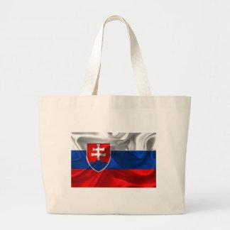 Bolsa Tote Grande Bandeira de Slovakia