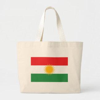 Bolsa Tote Grande Bandeira do Curdistão; Curdo; Curdo