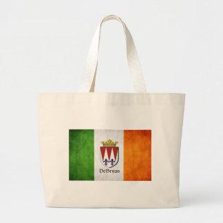 Bolsa Tote Grande Bandeira do irlandês de DeBryan
