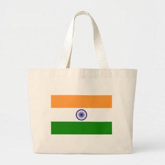 "Bolsa Tote Grande Bandeira indiana ""Tiranga "" da boa cor"