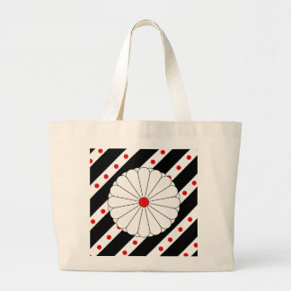 Bolsa Tote Grande Bandeira japonesa das listras