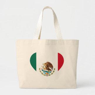 Bolsa Tote Grande Bandeira mexicana