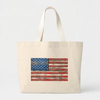 Bolsa Tote Grande Bandeira referente à cultura norte-americana