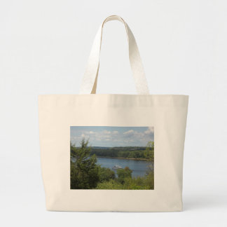 Bolsa Tote Grande Barco do rio Mississípi