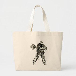Bolsa Tote Grande Basebol do espaço