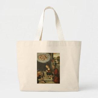 Bolsa Tote Grande Bebê adorador Jesus dos pastores por Cranach