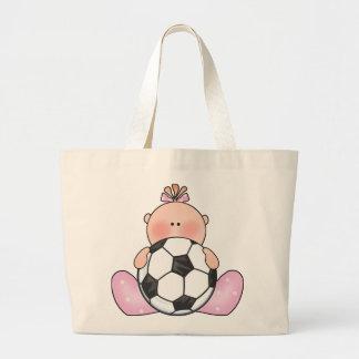 Bolsa Tote Grande Bebé do futebol de Lil