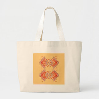 Bolsa Tote Grande Bege vermelho exótico dos elementos do design