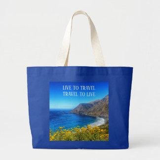 Bolsa Tote Grande Beira-mar 2 do viagem