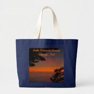 Bolsa Tote Grande beleza do por do sol, o Lago Ontário SunsetOswego,