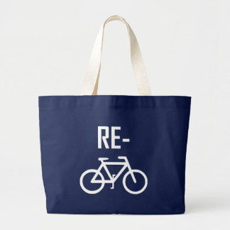 Bolsa Tote Grande Bicicleta da bicicleta do reciclar