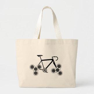 Bolsa Tote Grande Bicicleta do girador da inquietação