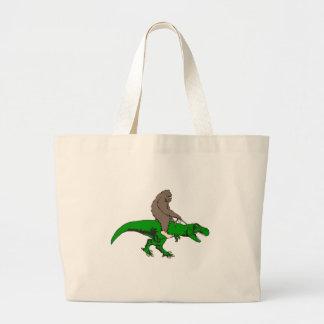Bolsa Tote Grande Bigfoot que monta T Rex