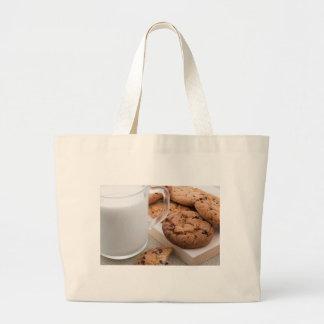 Bolsa Tote Grande Biscoitos do leite e de farinha de aveia com