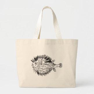 Bolsa Tote Grande Blowfish do Porcupinefish aka