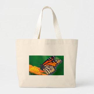 Bolsa Tote Grande Borboleta de monarca bonita