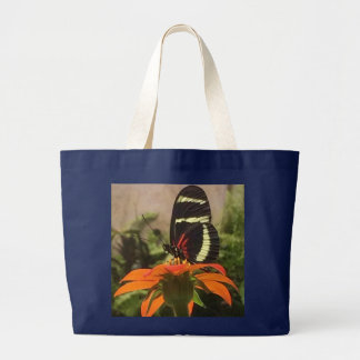 Bolsa Tote Grande Borboleta na sacola da flor