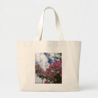 Bolsa Tote Grande Bougainvillea cor-de-rosa