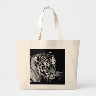 Bolsa Tote Grande Branco bonito África do preto do tigre
