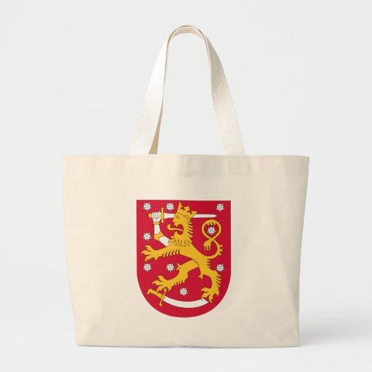 Bolsa Tote Grande Brasão de Finlandia - Suomen Vaakuna