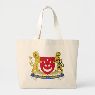 Bolsa Tote Grande Brasão do emblema do 新加坡国徽 de Singapore
