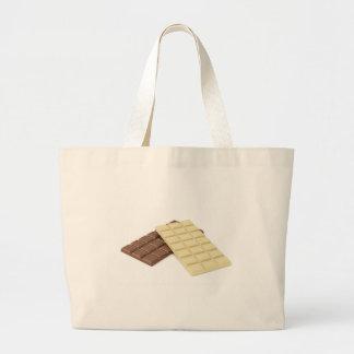 Bolsa Tote Grande Brown e bares de chocolate brancos