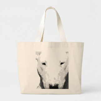 Bolsa Tote Grande Bull terrier preto e branco