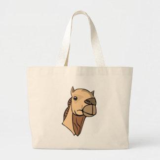 Bolsa Tote Grande Cabeça do camelo