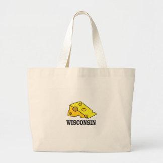 Bolsa Tote Grande Cabeça do queijo de Wisconsin