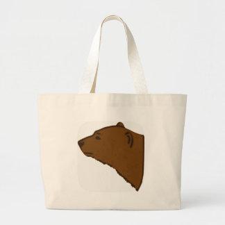 Bolsa Tote Grande Cabeça do urso