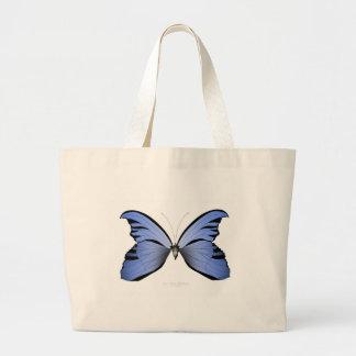 Bolsa Tote Grande Caçador azul do Azure da borboleta 2