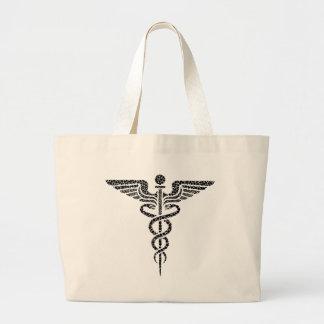 Bolsa Tote Grande Caduceus - símbolo médico feito de pilhas do