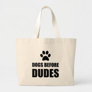 Bolsa Tote Grande Cães antes dos gajos engraçados