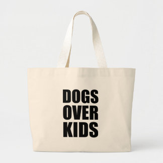Bolsa Tote Grande Cães sobre citações engraçadas dos miúdos