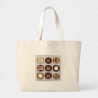 Bolsa Tote Grande Caixa com doces de chocolate