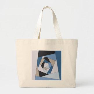 Bolsa Tote Grande Camadas geométricas dos azuis abstratos