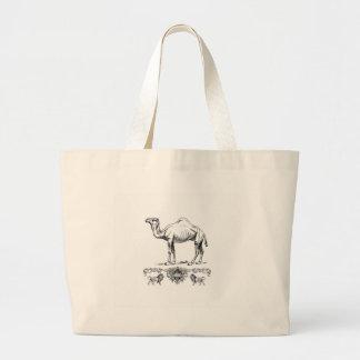Bolsa Tote Grande camelo extravagante do leão