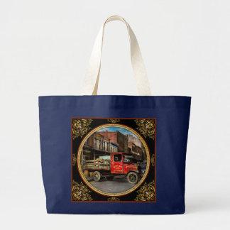 Bolsa Tote Grande Caminhão - aves domésticas vestidas Home 1926