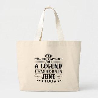 Bolsa Tote Grande Camiseta das legendas do mês de junho
